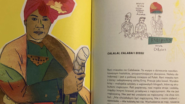 Książkę Trzecia płeć świata zdobią rysunki wykonane przez Mariannę Sztymę