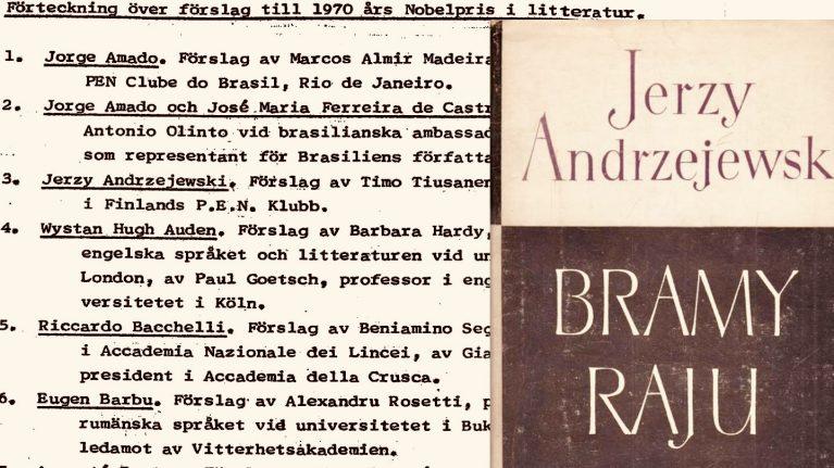 lista nazwisk kandydatów do Nobla literackiego za 1970 rok